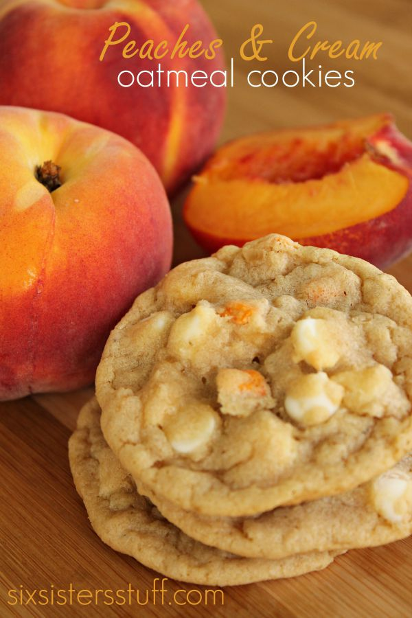 Peaches and Cream Oatmeal Cookies