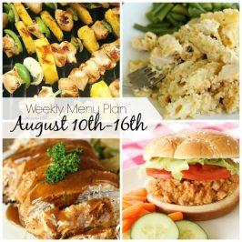 Weekly Menu Plan August 10th-16th