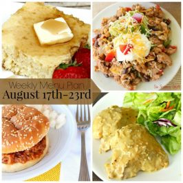 Weekly Menu Plan August 17th-23rd