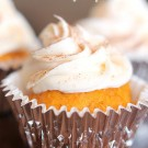 Pumpkin Cupcakes with Cream Cheese Frosting from SixSistersStuff.com