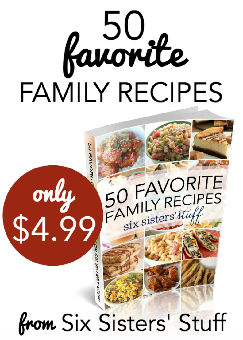50 Favorite Family Recipes eBook from Six Sisters' Stuff