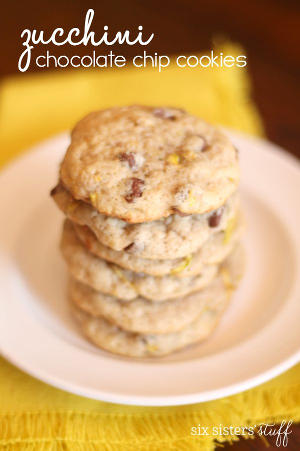 Zucchini Chocolate Chip Cookies from SixSistersStuff.com