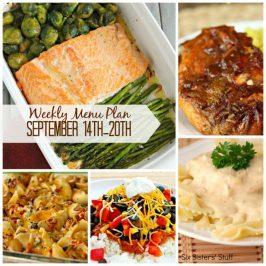 Weekly Menu Plan September 14th-20th