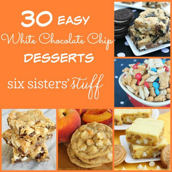 30 Easy White Chocolate Chip Desserts
