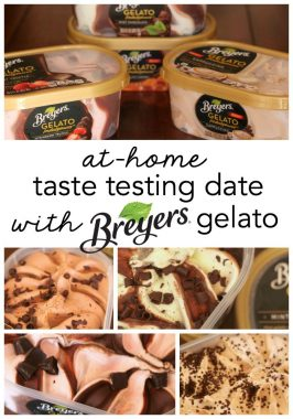 At-Home Taste Testing Date with Breyers Gelato Indulgences