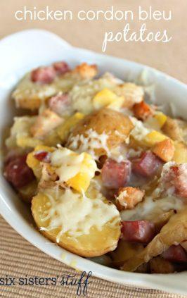 Chicken Cordon Bleu Potatoes