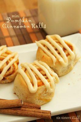 Mini Pumpkin Cinnamon Rolls