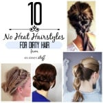 PicMonkey Collage 10 no heat hairstyles for dirty hair