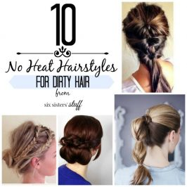 10 No Heat Updo's for Dirty Hair