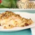 Slow Cooker Chicken Cordon Bleu with text