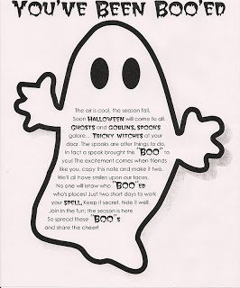 "Halloween Neighborhood ""Phantom"" Ghost Tradition & Print Out"