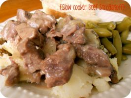 Slow Cooker Beef Stroganoff {Freezer Meal}