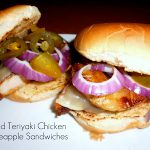 teriyaki chicken and pineapple sandwiches