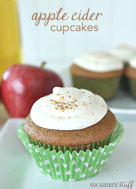 Apple Cider Cupcakes Made With Cake Mix