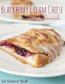 Easy Blackberry and Cream Cheese Danish