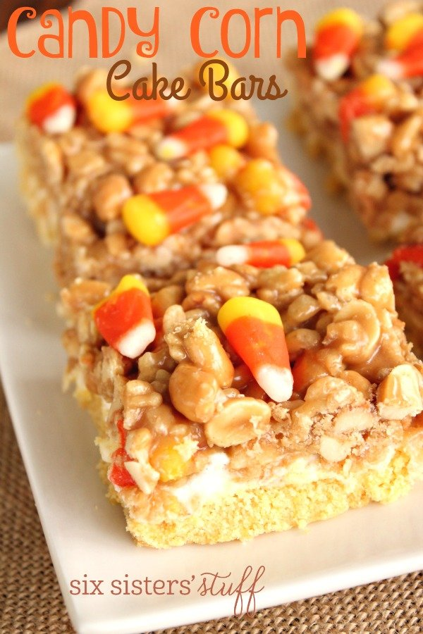 Candy Corn Cake Bars 2