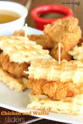 Chicken and Waffle Sliders with Buttermilk Syrup Recipe