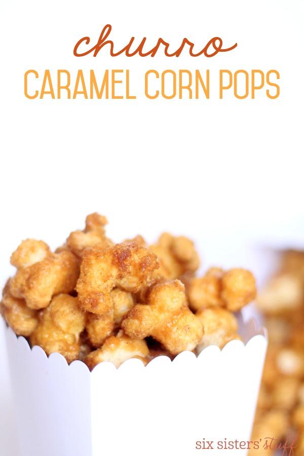 Churro Caramel Corn Pops Recipe