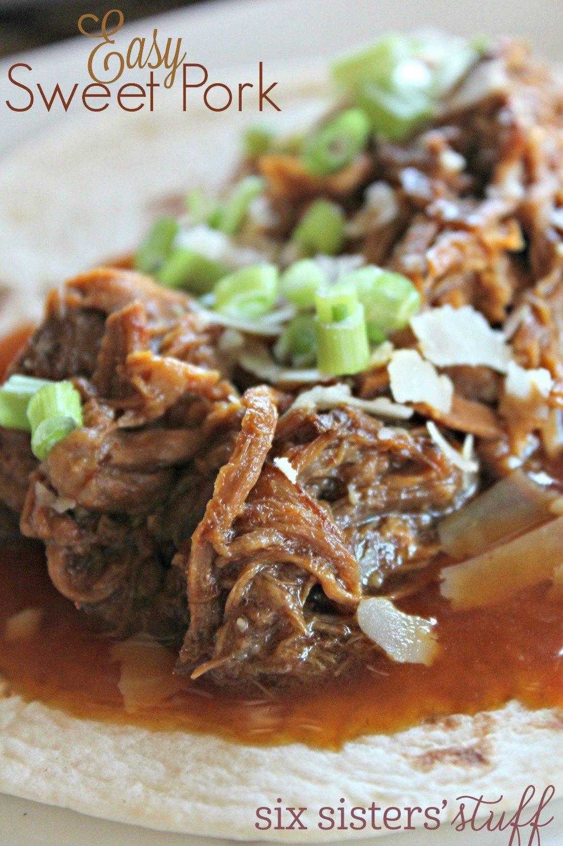 Easy Slow Cooker Sweet Pork