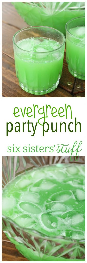 Evergreen Party Punch on SixSistersStuff.com