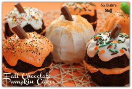 Fall Chocolate Pumpkin Cakes
