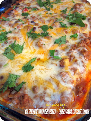 Cheesy Beef Enchilada Casserole Recipe
