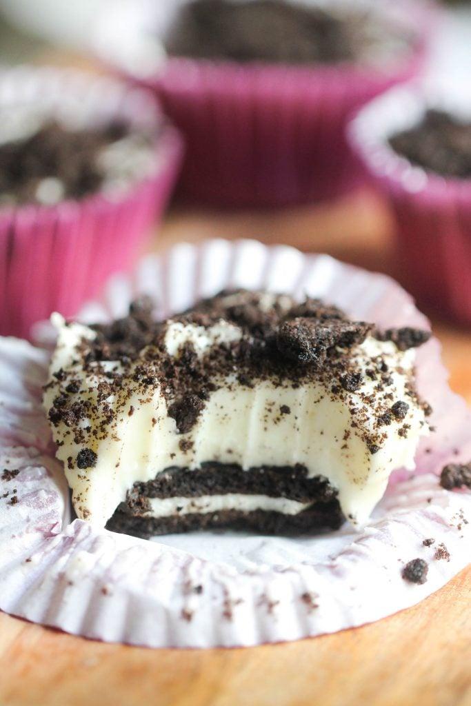 No Bake Mini Oreo Cheesecakes