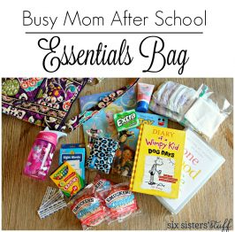 Busy Mom After School Essential Bag