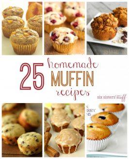 25 Homemade Muffin Recipes