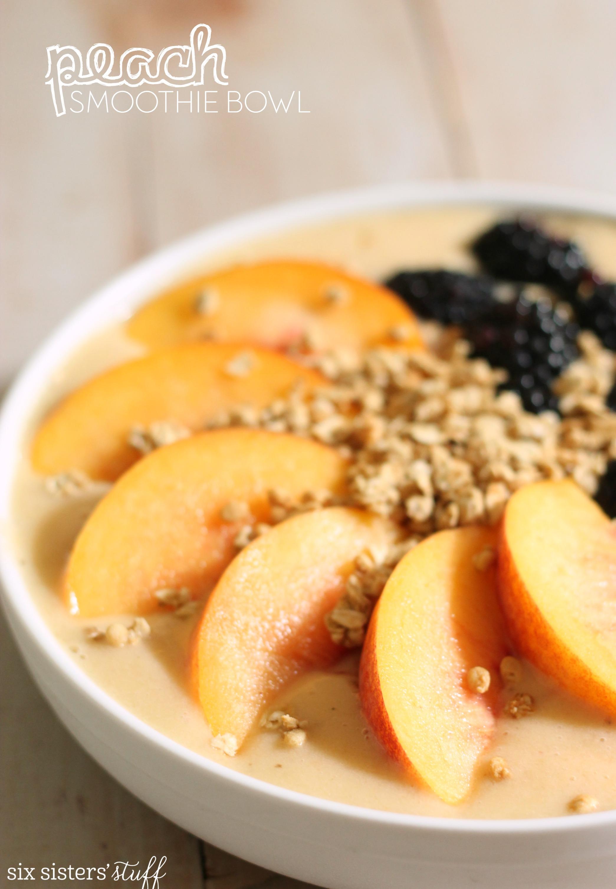 Peach Smoothie Bowl Recipe