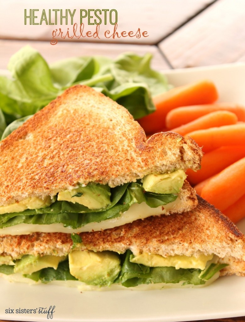 Healthy Pesto Grilled Cheese