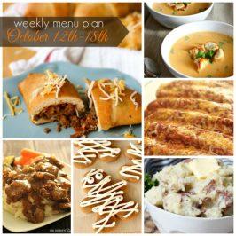 Weekly Menu Plan October 12th-18th