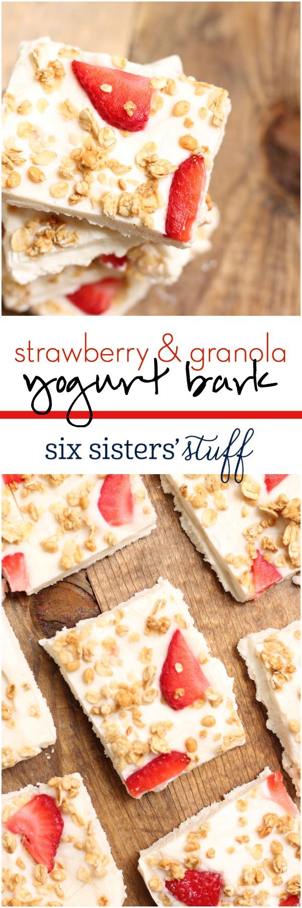 Strawberry Yogurt Granola Bark