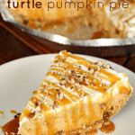 Turtle Pumpkin Pie from SixSistersStuff.com