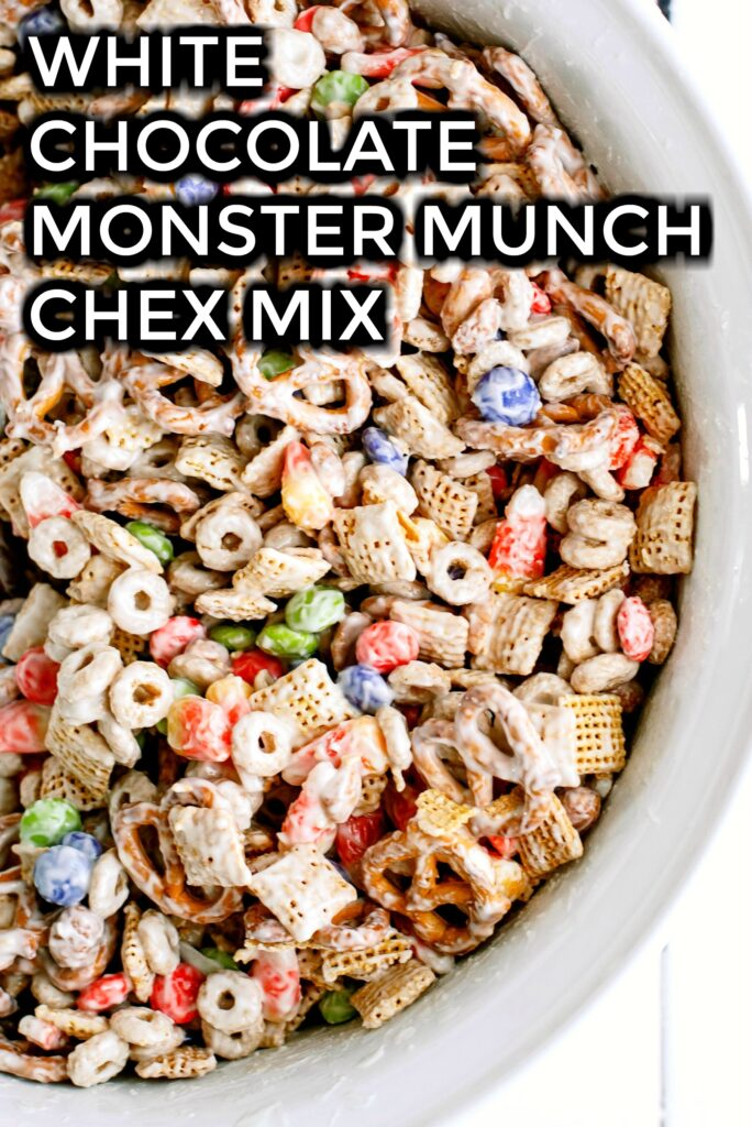 White Chocolate Chex Mix in a bowl