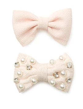 bow hair clips