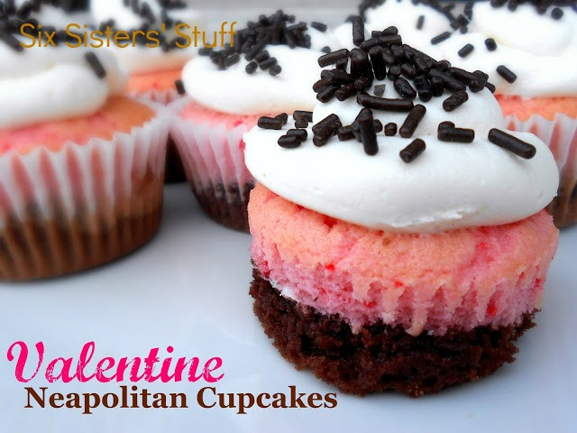Valentine's Day Neapolitan Cupcakes Recipe