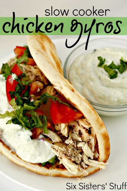 Slow Cooker Chicken Gyros Six Sisters Stuff