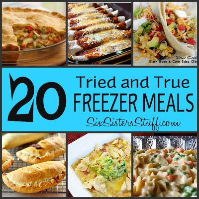 20 Tried and True Freezer Meals