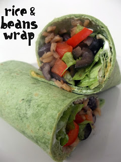 Spicy Rice and Bean Wraps Recipe