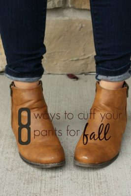 How to Cuff Your Pants for Fall