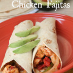 Baked Chicken Fajitas with text