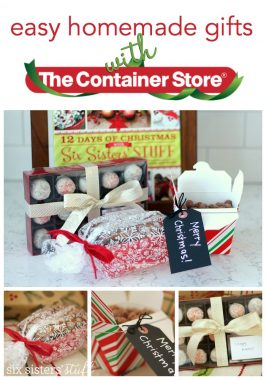 COME JOIN US to Make Easy Homemade Gifts with The Container Store!