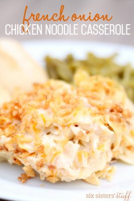 French Onion Chicken Noodle Casserole Recipe