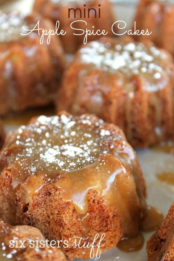 Mini Apple Spice Cakes