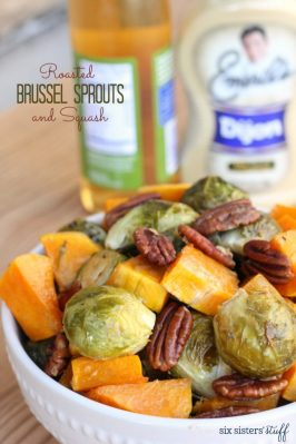 Roasted Brussel Sprouts and Squash
