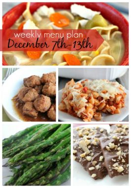 Weekly Menu Plan December 7th-13th