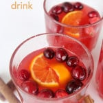 Warm Cranberry Citrus Drink on SixSistersStuff.com