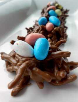 No-Bake Chocolate Bird Egg Nest Cookies {Fun kid recipe!}