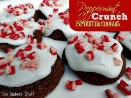 Peppermint Crunch Brownie Cookies Recipe
